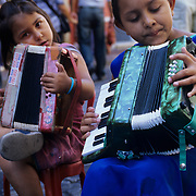 Street urchins entertain for coins in the La Boca neighborhood of Buenoe Aires, Argentina