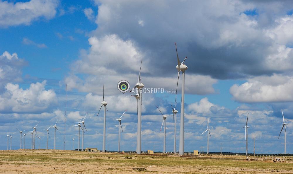 Ilha Grande de Santa Isabel-PI - Parque Eolico da Pedra do Sal. / Wind turbines at the Pedra do Sal Eolian Park in Parnaiba, in the Brazilian state of Piaui.