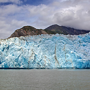 Photo of face of Sawyer Glacier before major calving  while on tour with Tracy Arm Adventure Bound with Captain Steve