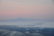 Mount Washington's shadow cast on the clouds.