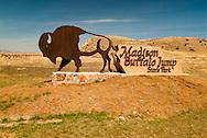 Madison Buffalo Jump State Park, southeast of Three Forks, Montana