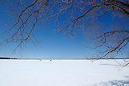 Snow and ice on the Saint Lawrence River,<br /> Mable Grove, Quebec, Canada