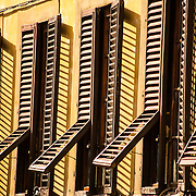 Apartment window shutters, Florence, Italy