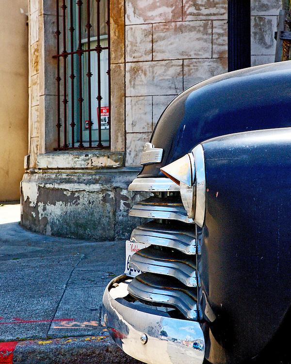 Car parked infront of the original policestations in San Francisco. Mandatory Credit: Dinno Kovic / Dinno Kovic Photography