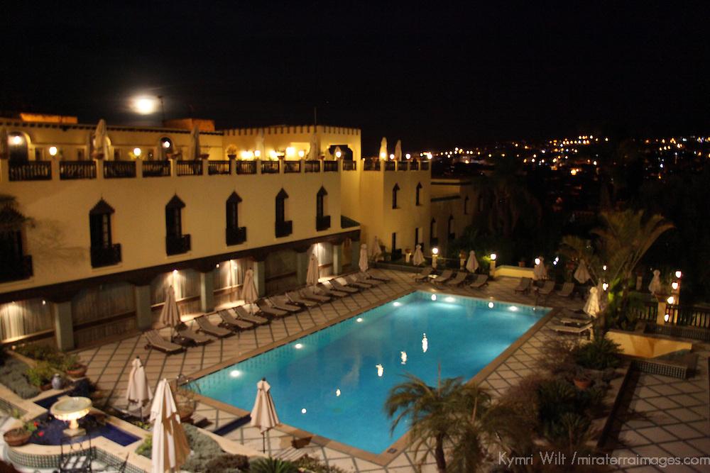 Africa, Morocco, Fes. Sofitel Palais Jamai hotel.