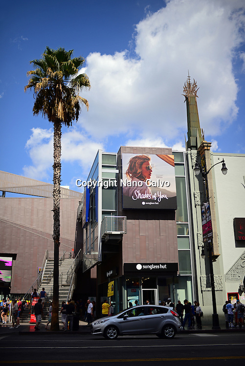 Hollywood Boulevard in Los Angeles, California.