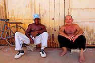 Men in Alquizar, Cuba.