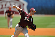 Mississippi State's Chris Stratton pitches vs. LSU in the SEC Tournament at Regions Park in Hoover, Ala. on Wednesday, May 23, 2012.
