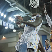 Delaware Guard Devon Saddler (10) drives to the basket in the Second half of a regular season NCAA basketball game against George Mason Saturday, March 2, 2013 at the Bob Carpenter Center in Newark Delaware.