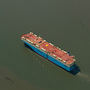 Aerial Views of the Hoegh Mason Vessel traveling outside the Chesapeake Bay, Maryland