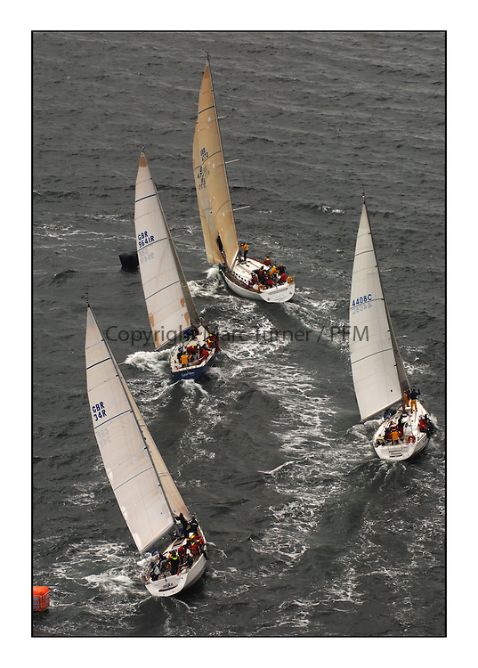 Day 2 of the Bell Lawrie Scottish Series with wild conditions on Loch Fyne for all fleets. Exhilarating and testing racing for Boats and crew...Class 1 GBR603R Playing Ftse,  9641R Local Hero, 4408C Pinocchio,  GBR34R, AbraXas,  Mark.