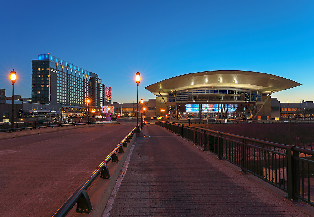 Boston landmark photo showing the modern architecture of the Boston Convention and Exhibition Center and the waterfront Westin Hotel, photographed on a stunning night at twilight. The BCEC is one of the largest convention and exhibition centers in the Northeast and the Westin Hotel is right next door, providing easy access to any exhibitions at the convention center and to downtown Boston. This Boston Westin Hotel and the BCEC photography images are available as museum quality photography prints, canvas prints, acrylic prints or metal prints. Fine art prints may be framed and matted to the individual liking and decorating needs: <br />