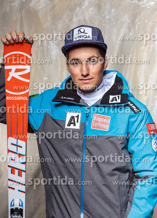 08.10.2016, Olympia Eisstadion, Innsbruck, AUT, OeSV Einkleidung Winterkollektion, Portraits 2016, im Bild Patrick Feurstein, Ski Alpin, Herren // during the Outfitting of the Ski Austria Winter Collection and official Portrait Photoshooting at the Olympia Eisstadion in Innsbruck, Austria on 2016/10/08. EXPA Pictures © 2016, PhotoCredit: EXPA/ JFK