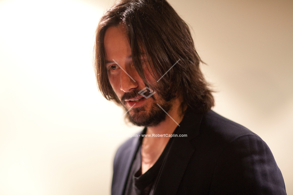 Actor Keanu Reeves at the New York Premiere of Henry's Crime...Photo by Robert Caplin.