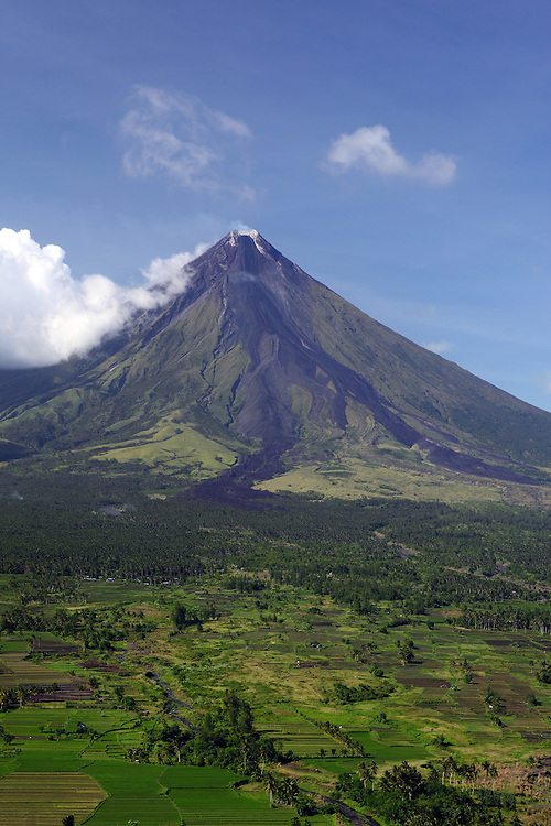 Mayon Volcano as viewed from Lignon Hill.