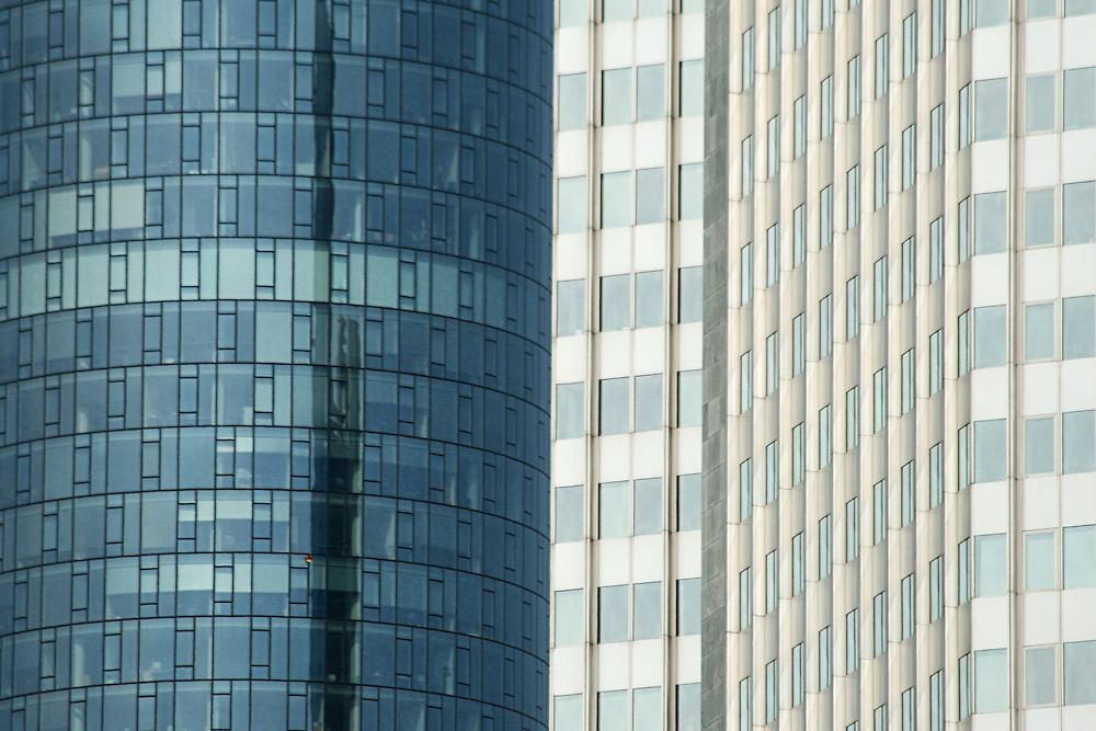 High Modern Skyscrapers in Frankfurt Germany