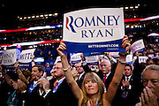 The 2012 Republican National Convention in Tampa, Florida, August 30, 2012.