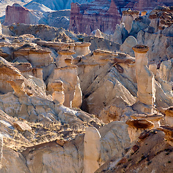 040313       Brian Leddy<br /> Balanced rocks, hoodoos and spires line the valley floor of Coalmine Canyon.