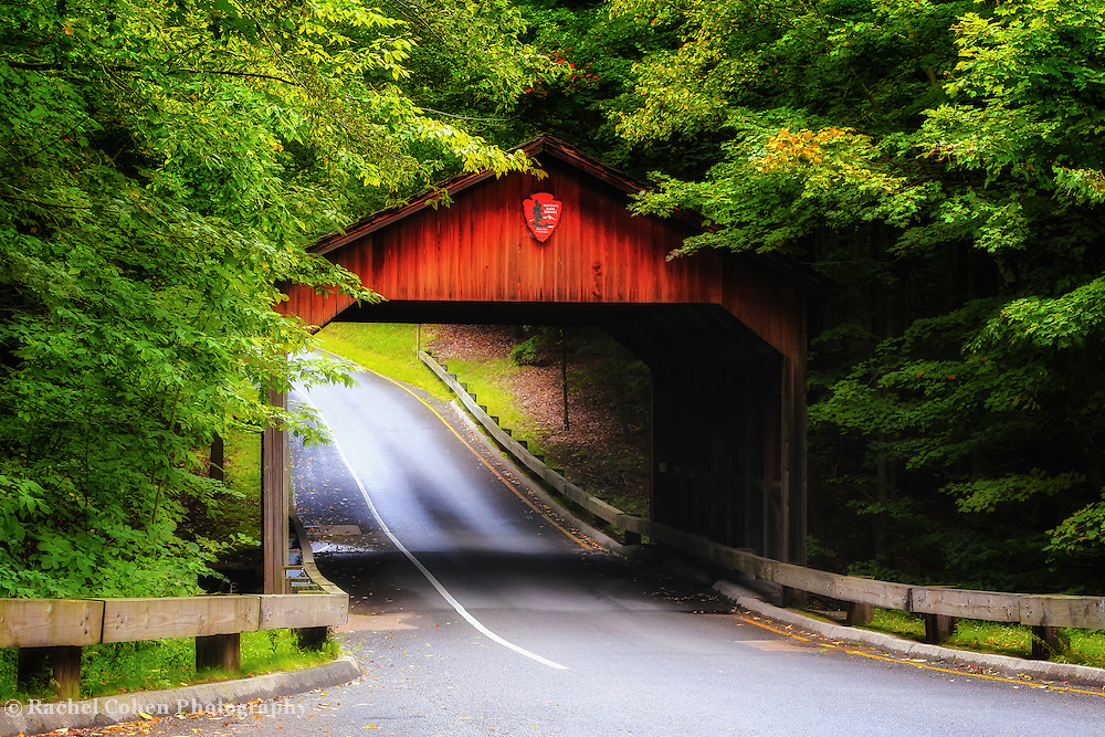 &quot;Pierce Stocking Covered Bridge&quot;<br /> <br /> Wonderful covered bridge along Pierce Stocking Scenic Drive in early autumn at Sleeping Bear dunes National Lake Shore!