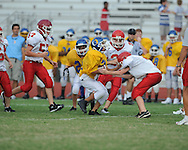 Oxford Middle School vs. Lafayette Middle School in 7th grade football at Bobby Holcomb Field on Tuesday, August 31, 2010 in Oxford, Miss.