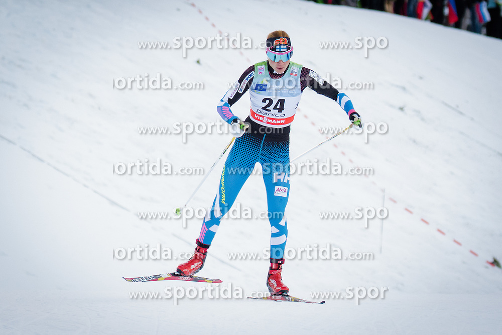 Mona-Liisa Nousiainen (FIN) during Ladies 1.2 km Free Sprint Qualification race at FIS Cross<br /> Country World Cup Planica 2016, on January 16, 2016 at Planica,Slovenia. Photo by Ziga Zupan / Sportida