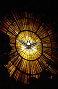 Stained glass window of the Holy Spirit, from St. Peter's Basilica in Rome. (Photo by Sam Lucero)