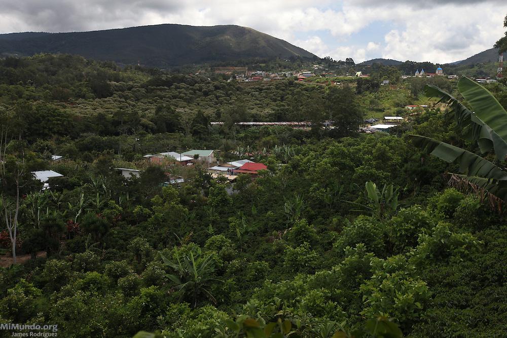 Panorama of San Marcos de Tarrazú. COOPETARRAZU, San Marcos de Tarrazú, San José, Costa Rica. August 24, 2012.