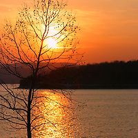 Sunset at Beaver Lake<br />