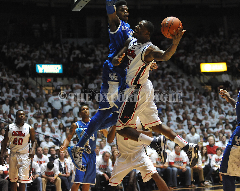 "Ole Miss vs. Kentucky at the C.M. ""Tad"" Smith Coliseum on Tuesday, January 29, 2013. Kentucky won 87-74. (AP Photo/Oxford Eagle, Bruce Newman).."