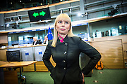 Elzbieta Bienkowska, of Poland, EU Commissioner-designate in charge of Internal Market, Industry, Entrepreneurship and SMEs, attends her hearing in front of a European Parliament commission in Brussels, Belgium on 02.10.2014 by Wiktor Dabkowski