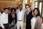24 June 2010- Miami Beach, Florida- l to r:  Rick Margallanes, Janice Burgess, Creator of the Backyardigans, Jeff Friday and Browne Johnson, President of Nickelodeon Animation and Karen Kirkland of Nickelodeon at the The 2010 American Black Film Festival Founder's Brunch held at Emeril's on June 24, 2010. Photo Credit: Terrence Jennings/Sipa