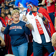 Fans cheer on Gonzaga during Battle In Seattle. Photo by Austin Ilg