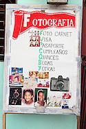 Photo studio sign in La Maya, Santiago de Cuba, Cuba.