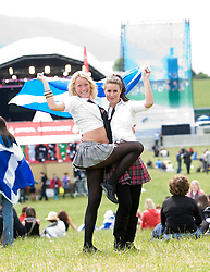 Kay Elliot & Iona MacDonald in the main arena..Rockness, Saturday 13th June 2009..Pic © Michael Schofield. All Rights Reserved.