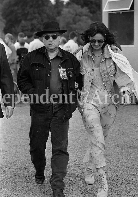 Van Morrison enjoying the 1995 Slane Castle concert, 22/07/1995 (Part of the Independent Newspapers Ireland/NLI collection).