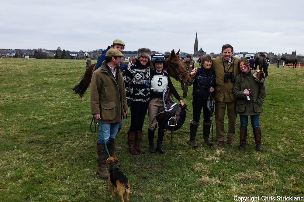 The winning syndicate, ridden, trained, and 'owned' from the Jedforest Hunt country.