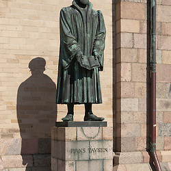 Hans Tausen (Tavsen) (1494 – November 11, 1561), the leading theologian of the Danish Reformation in Denmark, was born at Birkende on Funen in 1494 and died in Ribe in 1561. Photo from Ribe.