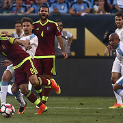 Venezuela Midfielder TOMAS RINCON (8) dribbles up the field in the second half of a Copa America Centenario Group C match between Uruguay and Venezuela Thursday, June. 09, 2016 at Lincoln Financial Field in Philadelphia, PA.