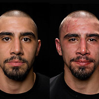 Jacksons MMA Series 7: Before and After images of MMA fighter Ali Hanjani at the Hard Rock Casino in Albuquerque, NM.