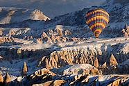 Ballooning Over Frosty White Cappadocia, Turkey