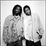 Professional skateboarders Karl Watson and Adrian Williams in Anchorage, Alaska. 2006