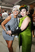 l to r: Cognac Wellerlene and Rosemary Ponzo at The 2008 Fashion Week sponsored by Mercedes Benz at The Tents in Byrant Parks in New York City