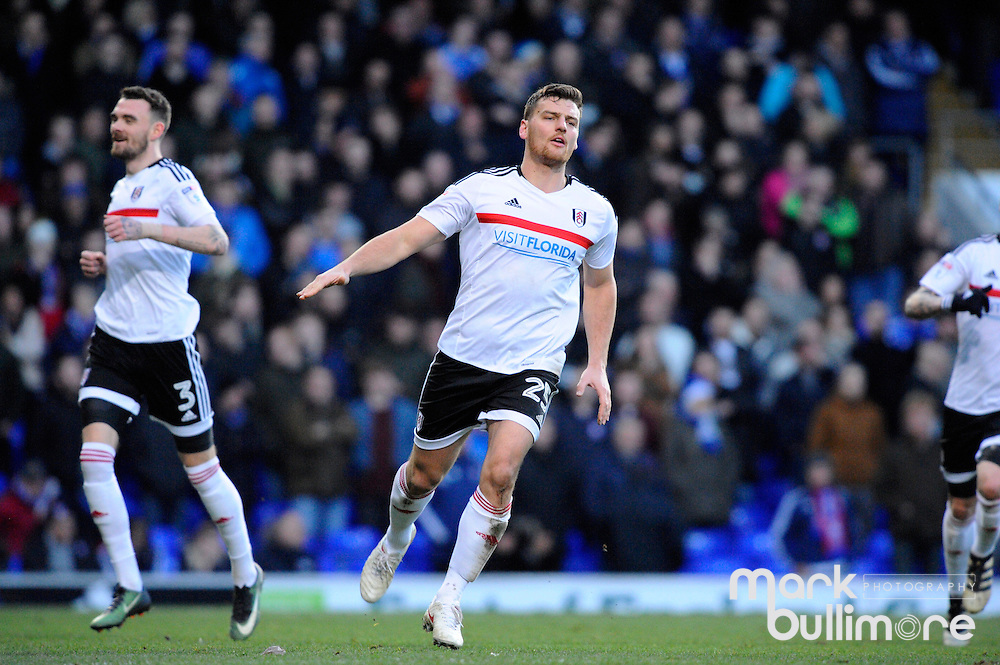 Ipswich, Suffolk. Football action from Ipswich Town v Fulham at Portman Road in the Sky Bet Championship on the 26th December 2016. Goal scorer Chris Martin. <br /> <br /> Picture: MARK BULLIMORE