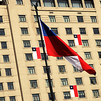 South America, Chile, Santiago. El Edificio Jose Carrera, housing the Ministry of Foreign Affairs.