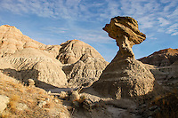 Hoodoo in Badlands National Park in South Dakota