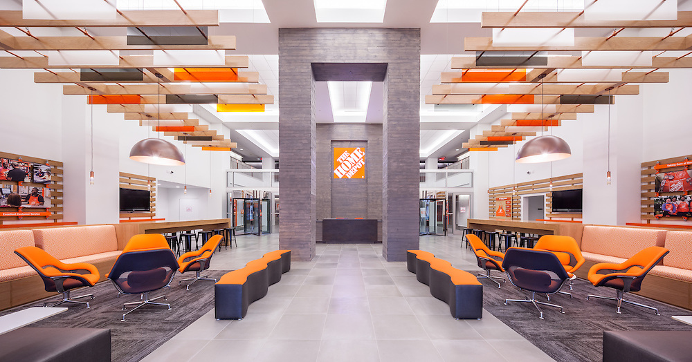 home depot store support center corporate headquarters office lobby