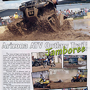 Images and an article of the Arizona ATV Outlaw Trail Jamboree were featured on page 69-70 in Desert Sports and Recreation Magazine Volumn 1, Issue 6.