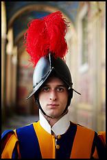 Feb 2012 Swiss Guard's at the Vatican City