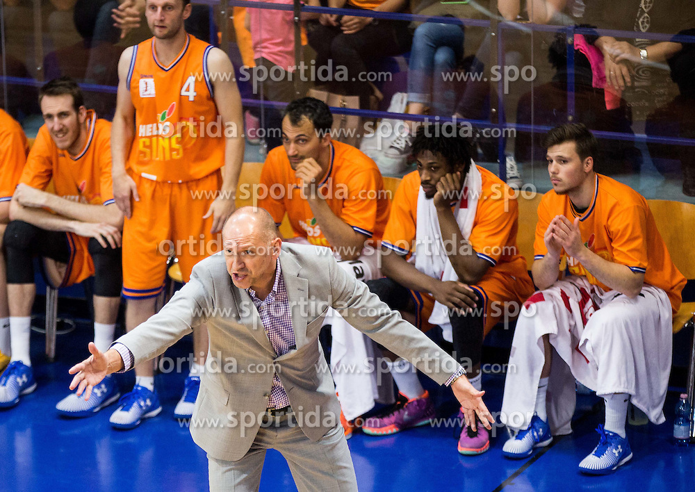 Jaksa Vulic, head coach of Helios during 2nd Leg basketball match between KK Helios Suns and KK Zlatorog Lasko in Final of Nova KBM Champions League  2015/16, on May 31, 2016 in Hala Komunalnega centra, Domzale, Slovenia Photo by Vid Ponikvar / Sportida