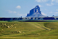 Shiprock Peak, dormant volcano, sacred peak, Navajo Indian Reservation, New Mexico, 7,178 ft, most dominant natural feature of northwest New Mexico